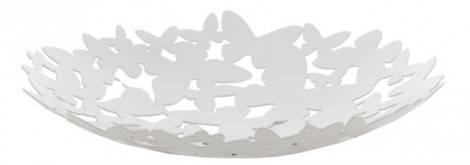 Beyaz-Dekoratif-Sehpa-S - Kelebekli kase, ENZA