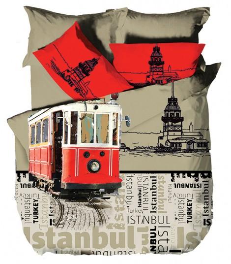 Hobby-Deluxe-Saten-Çift-Kişilik-Nevresim-Takımı-City-İstanbul---110,49-TL-(suave.com.tr)