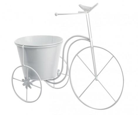 Evim.net_Beyaz-Ferforje-Bisiklet-Saksç-31,90TL