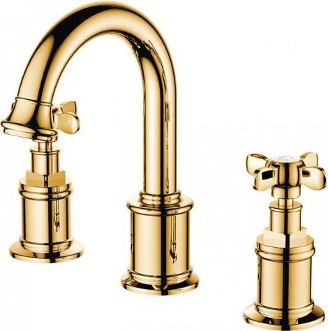 Kale-Banyo-Victorian-Lavabo-Bataryası---3-Delikli-Lavabolar-İçin---Altın