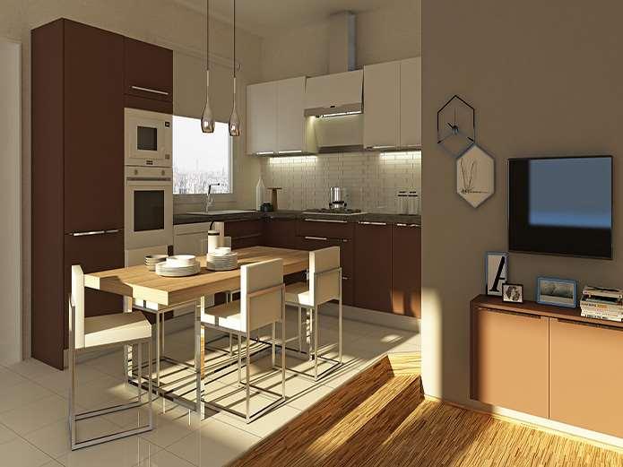 """Opaco / İntema """"Evin ve mutfağın kendine özgü karakterini ön plana çıkaran, bütüne hakim olan ana unsur renklerdir"""" diye düşünenler için ideal bir seçim olarak karşımıza çıkan İntema tasarımının adı Opaco... Mutfak tasarımında yeni bir trend olarak öne çıkan mat lakenin en şık hallerinden birini gözler önüne seren Opaco, modern ve ferah duruşuyla farkını ortaya koyuyor."""